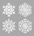 snowflake isolated on gray background vector image