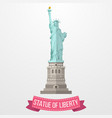 statue of liberty icon on white background vector image