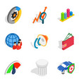 successful idea icons set isometric style vector image vector image