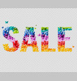 summer sale text vector image vector image