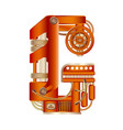 the letter g of mechanic alphabet vector image vector image