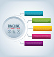timeline infographic bar graph business vector image vector image
