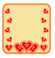 Valentines day frame of heart gold background vector image