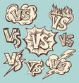 vintage versus confrontation signs collection vector image vector image