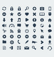web and application icons set vector image
