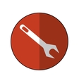 wrench repair tool symbol icon-brown circle shadow vector image vector image