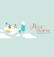 year winter children greeting card vector image