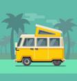 vintage van summer vacation time tropics vector image