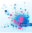 Inky colorful splashes vector image