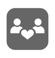 people with hearts - couple family and health vector image