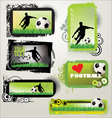 soccer retro grunge banners vector image