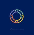 o monogram circle logo vector image