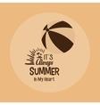 vintage poster summer ball beach vector image