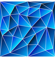 abstract vitrage - triangular shades of blue grid vector image vector image