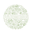 agricultural background farm wheat rural vector image