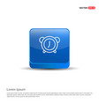alarm clock icon - 3d blue button vector image