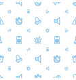 alert icons pattern seamless white background vector image vector image