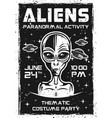aliens invitation poster for thematic party vector image vector image