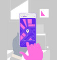 augmented reality navigation and travelling mobile vector image vector image