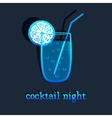 background with cocktail vector image vector image
