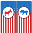 Banners with Donkey and Elephant as a Symbols Vote vector image vector image