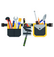 belt with tools conceptual image of tools for vector image vector image