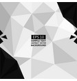 black and white polygon abstract background vector image vector image