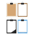 blank paper on a clipboard holder vector image