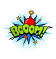 boom exlosion sound comic cartoon style bubble vector image vector image