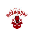 boxing day typography combined in a shape of vector image