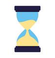 business clock hourglass vector image