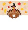 card for thanksgiving day with turkey vector image vector image