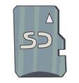 cartoon image of memory card vector image vector image