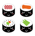 Cartoon Sushi vector image