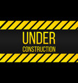 caution under construction sign danger label vector image vector image