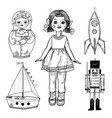children toy for children doll tin soldier vector image