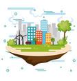 cityscape scene eco friendly vector image vector image