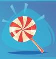 colorful lollipop candy sweet food game icon vector image