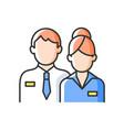 company staff rgb color icon vector image