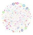 confetti stars decoration globula vector image vector image