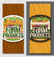 coupons for farm products vector image