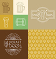 craft beer and brewery logos and design elements vector image vector image