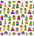 Cute house pattern vector image vector image