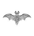 Decorative bat vector image vector image