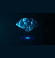 eps10 gemstone crystal on a blue background vector image