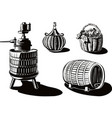 equipment to produce wine vector image vector image