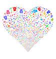 financial capital fireworks heart vector image vector image