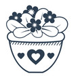 flower violet linear style icon vector image