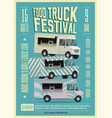 Food truck festival poster flyer template