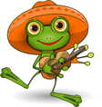 Frog with Guitar vector image vector image